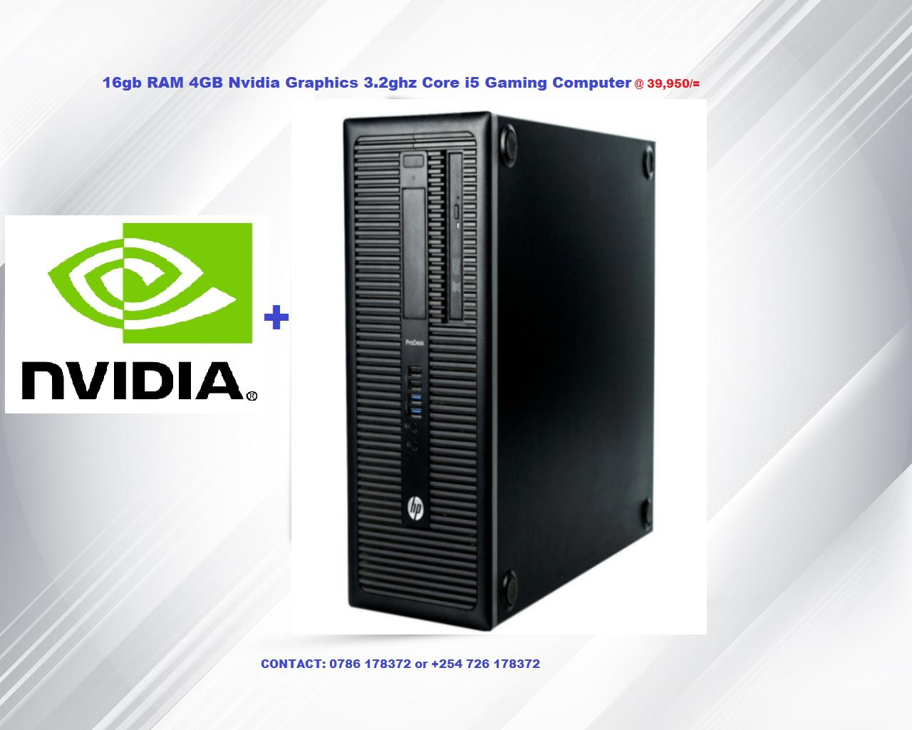 16gb RAM 4GB Nvidia Graphics  Core i5 4th gen Refurbished Computer