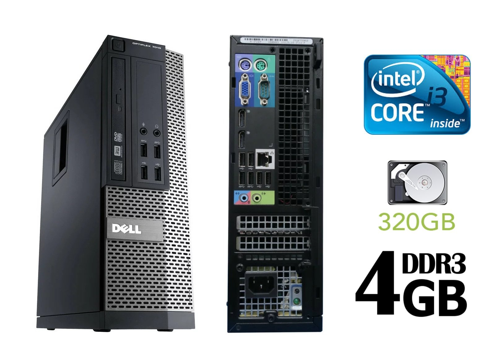 3.4 GHz Core  i3_4gb RAM_320GB Refurbished desktop  with 3 Games free