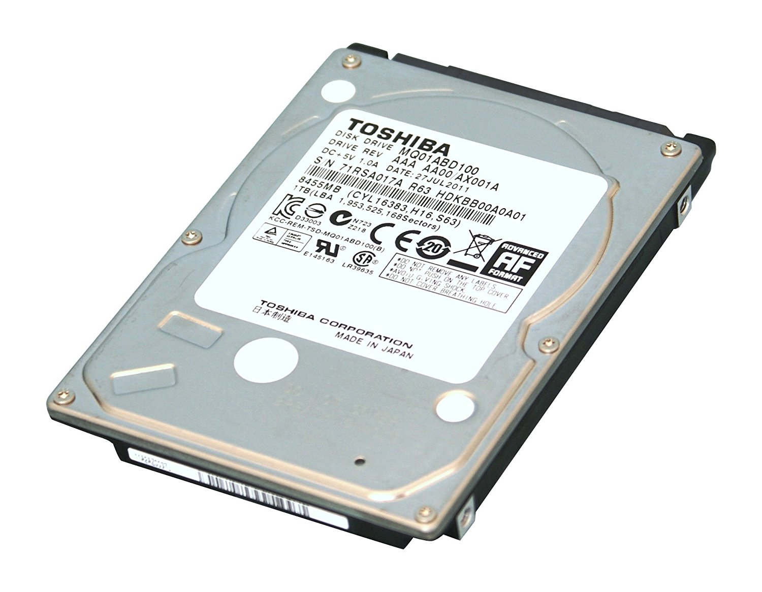 1TB Internal Laptop Hard Drive Brand New