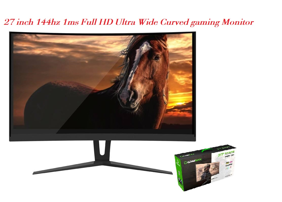 27 inch 144hz 1ms Full HD Ultra Wide Curved gaming Monitor at